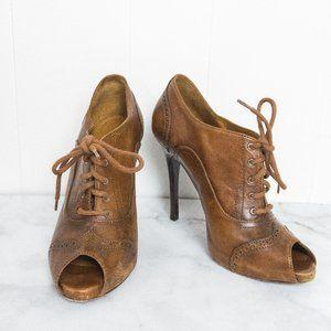 Ralph Lauren Purple Label Leather Oxford Heels